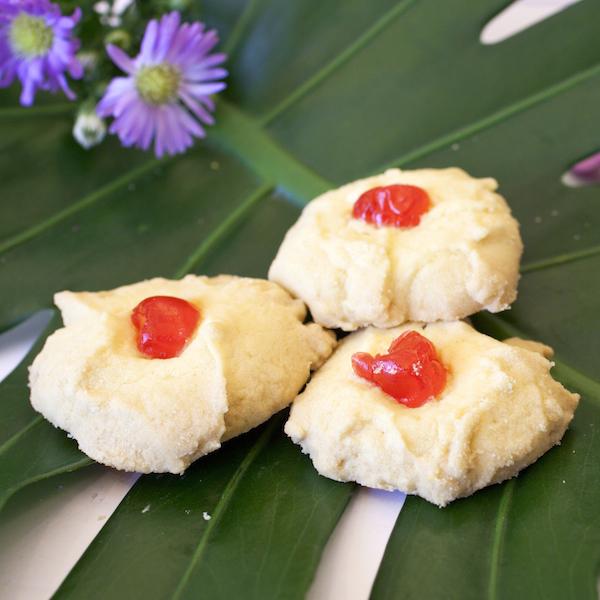 Custard Flower Cookies